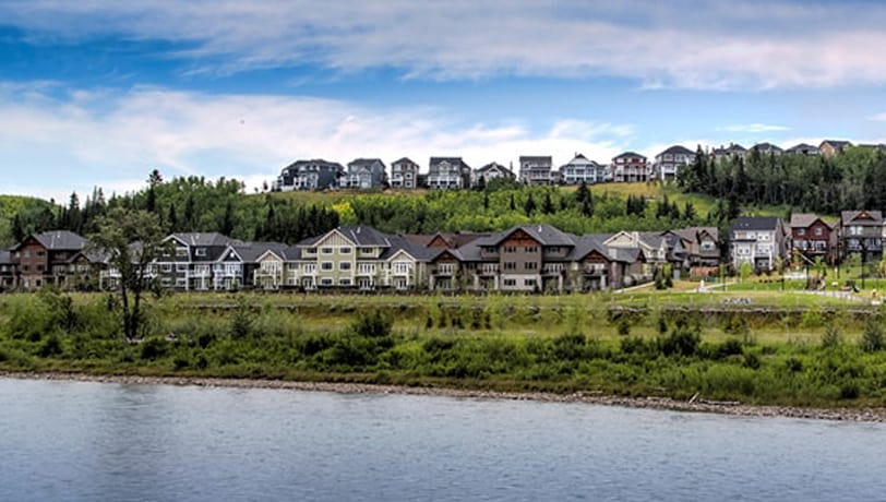 View of the community of Precedence, Cochrane